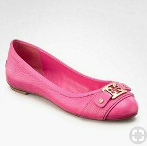Tory Burch Poppy Pink Clines Ballet Flats